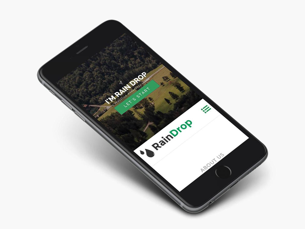raindrops-wordpress-theme-preview-iphone