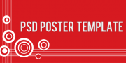 PSD poster template freebie