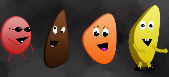 funny fruit characters freebie