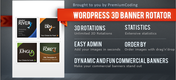Wordpress Banner 3d Rotator with Statistics