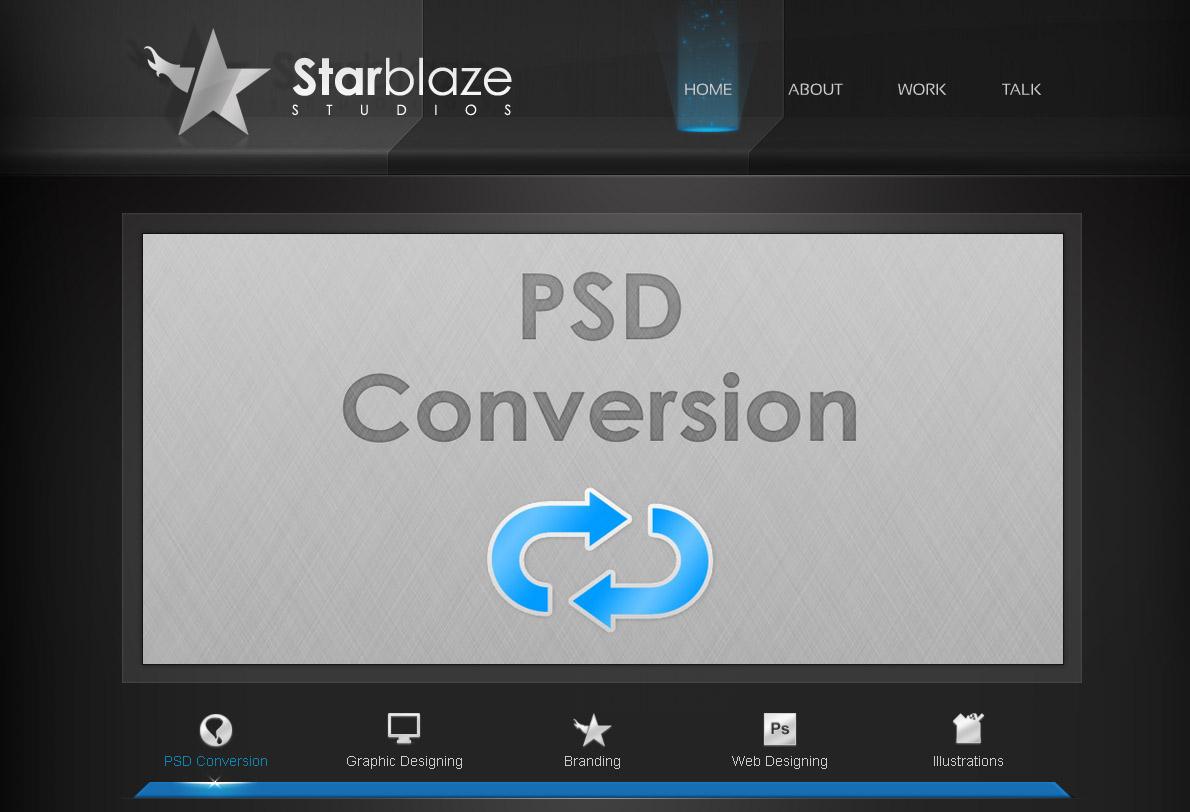 starBlaze Home page premium Template