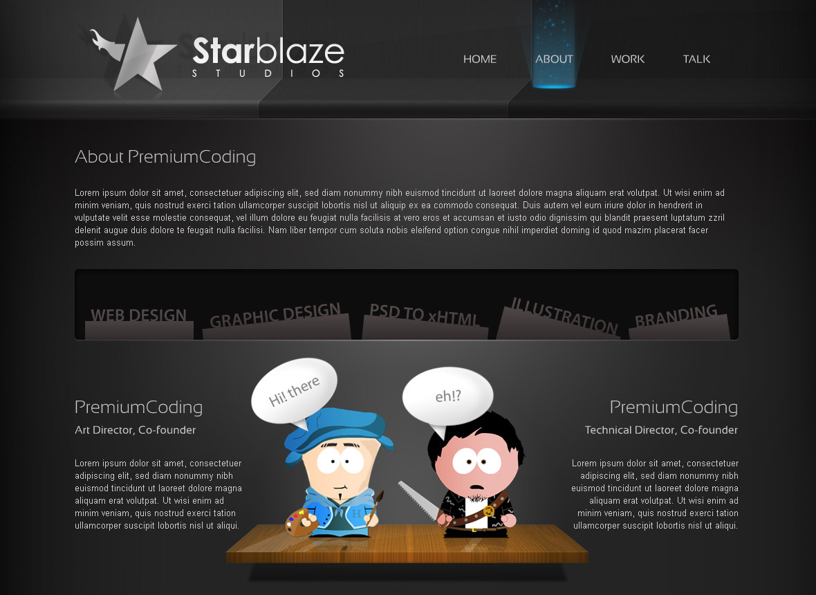 starBlaze About page