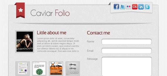 Caviar Folio Landing Page