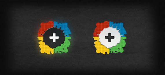 Google+1 Button psd Splatter