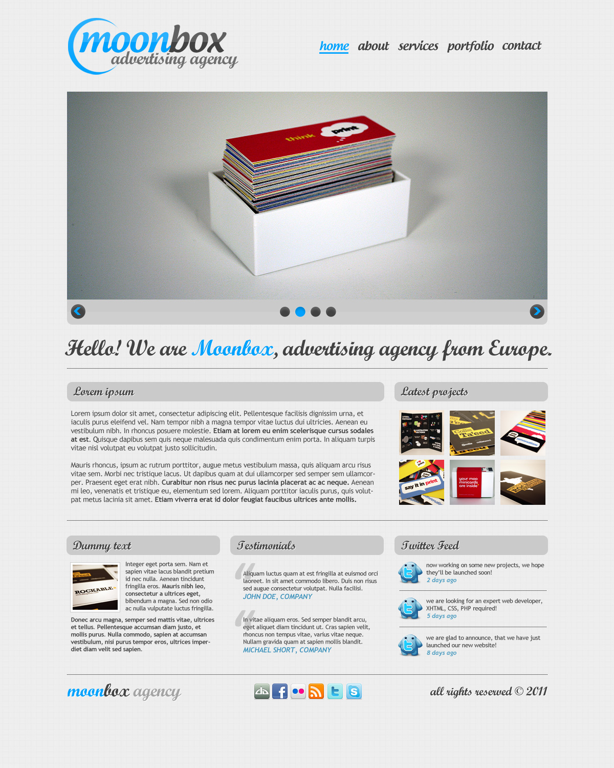 MoonBox PSD Site Template