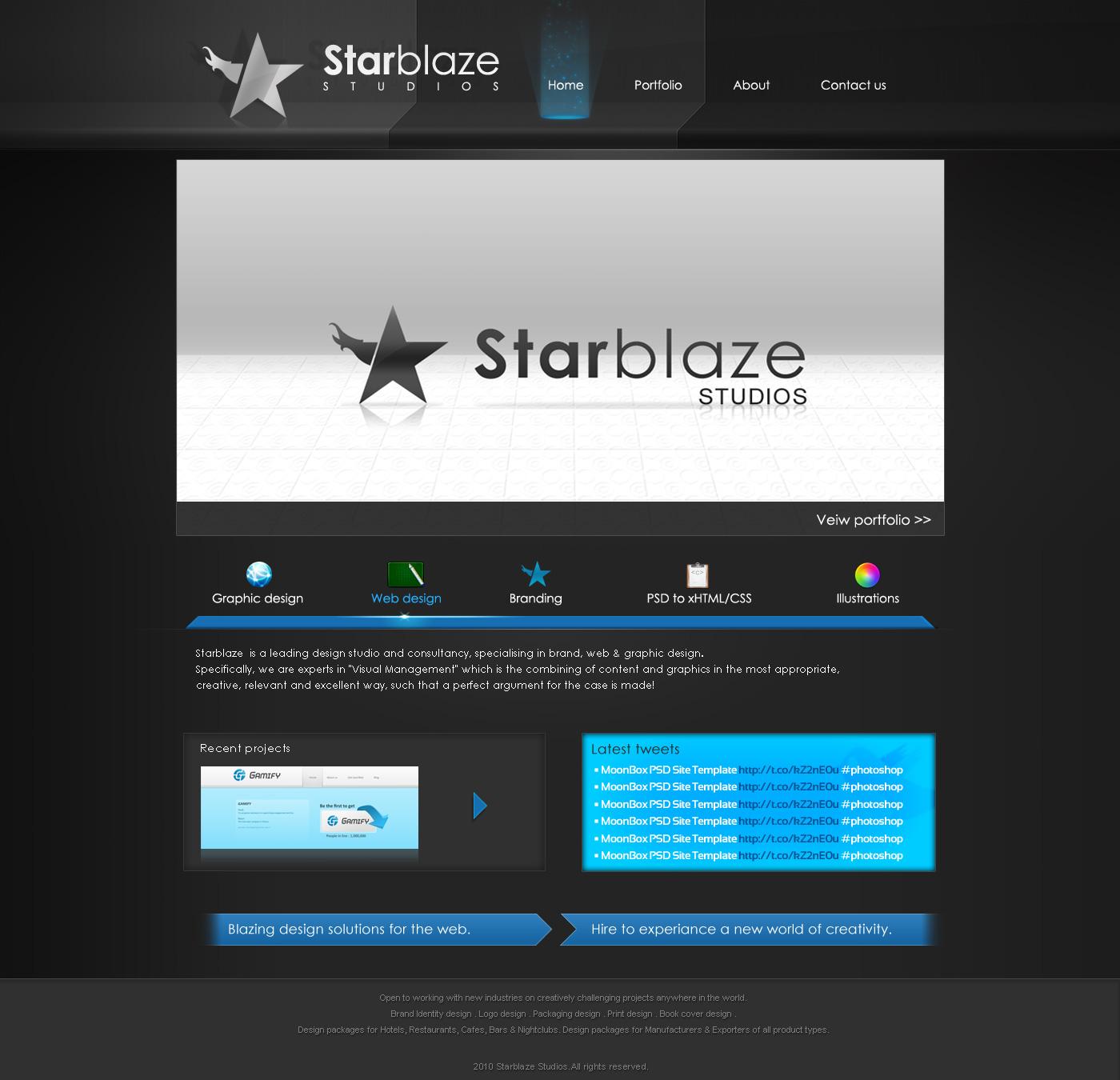 Starblaze PSD Template