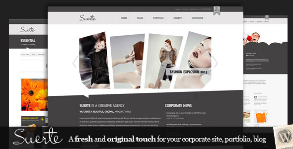 Suerte premium wordpress template