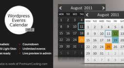 WordPress Minimalistic Calendar