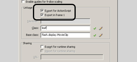 Export For ActionScript AS3