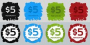 Free Price Tags / Buttons PSD