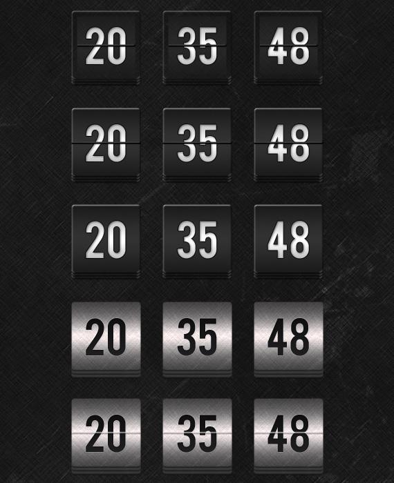 Slick Dark PSD Countdown Freebie