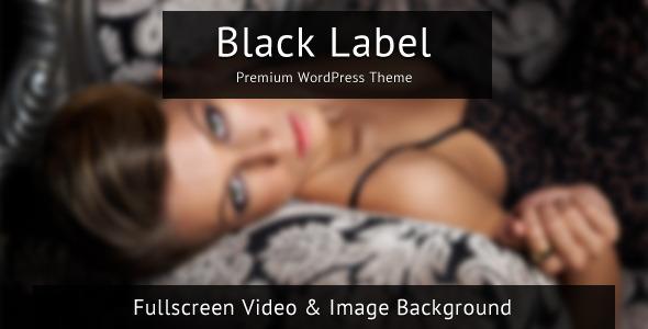 Black Label Wordpress Theme of the Week