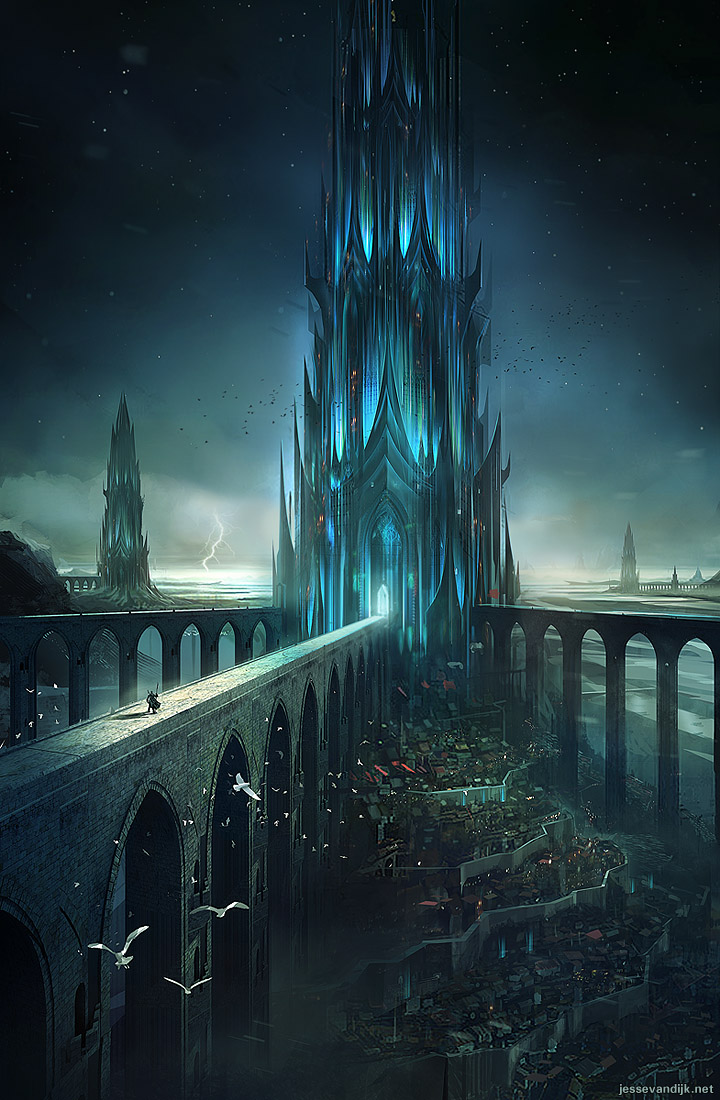 Best of the web castle illustrations premiumcoding for Architecture fantastique