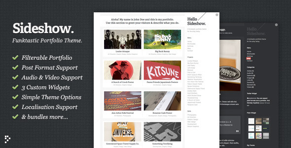 Sideshow - WordPress Theme of the week
