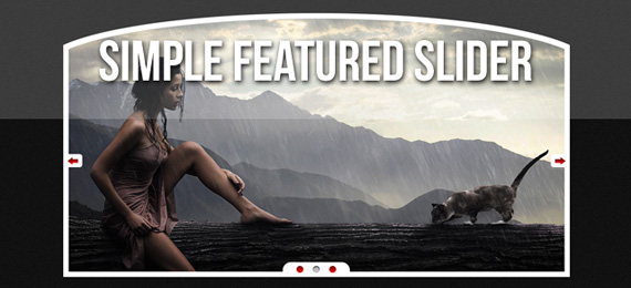 Simple featured slider