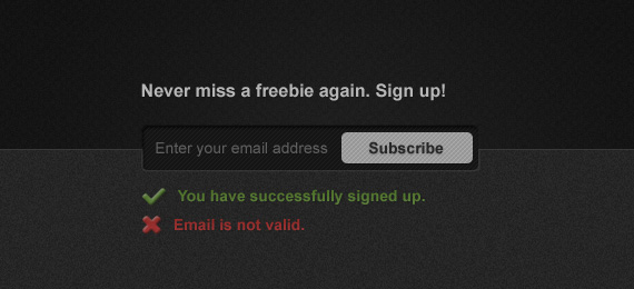 Freebie: Newsletter Sign Up PSD