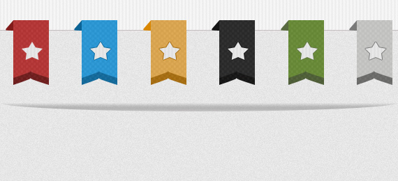 Simple Star Ribbons PSD