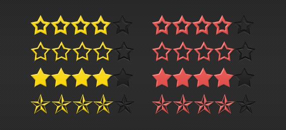 Stars Rating System PSD