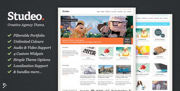 Studeo agency wordpress template