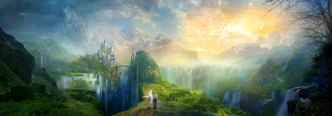Utherworlds romantic castle illustration