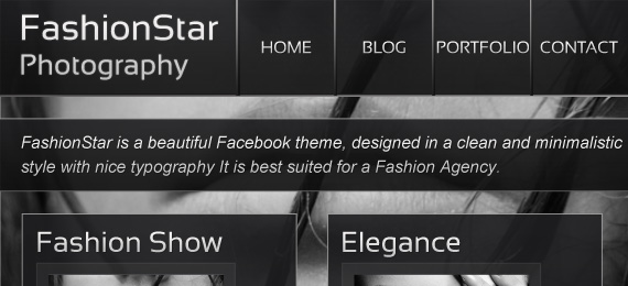 Fashion Star Facebook Template