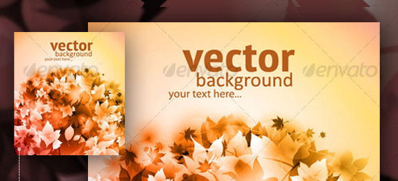 Vector autumn backgrounds with fallen leaves
