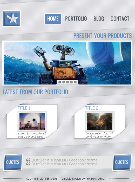 BlueStar facebook page template