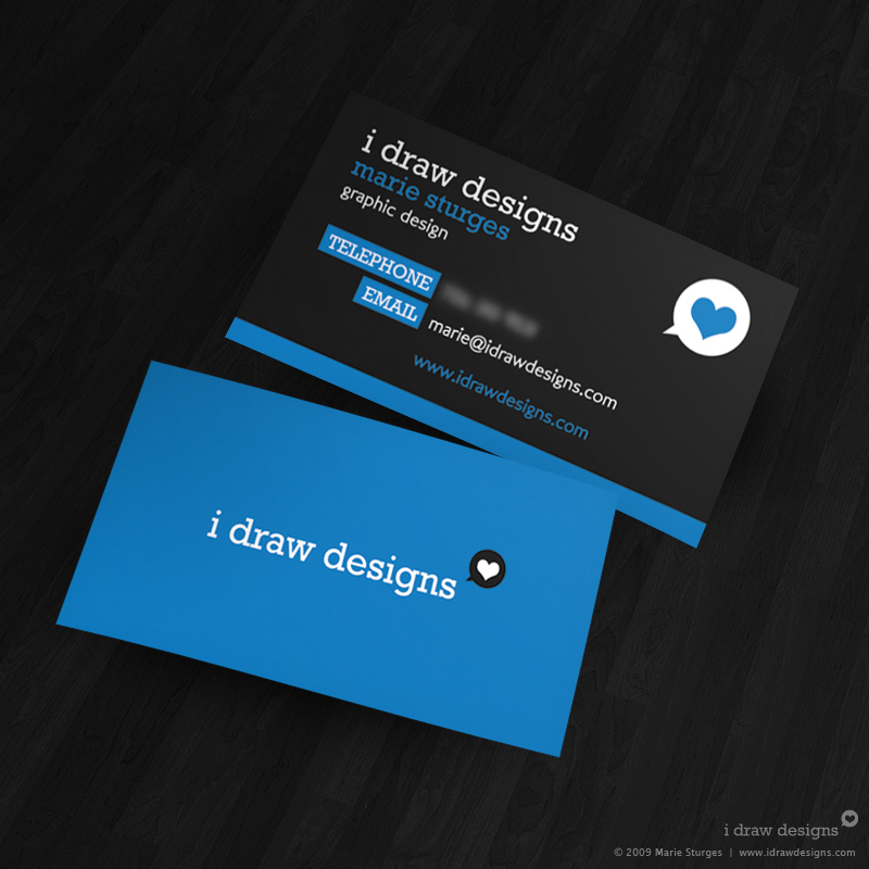 beautifully designed card in dark grey and blue color variation