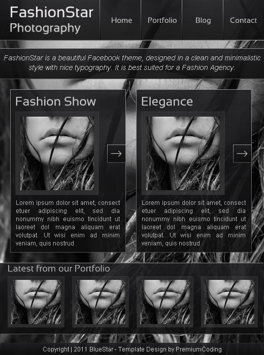 FashionStar facebook page template