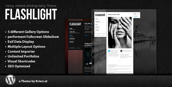 Flashlight fullscreen background portfolio theme