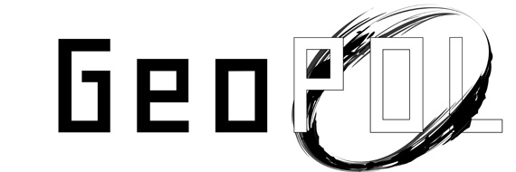 Geopol Black and White Logo