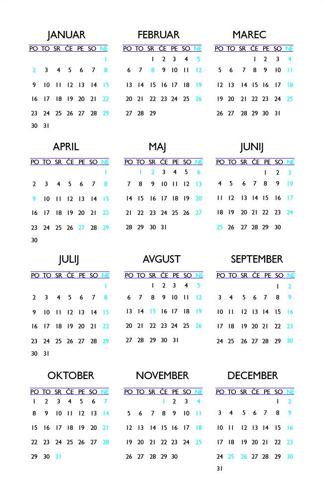 Calendar - Front
