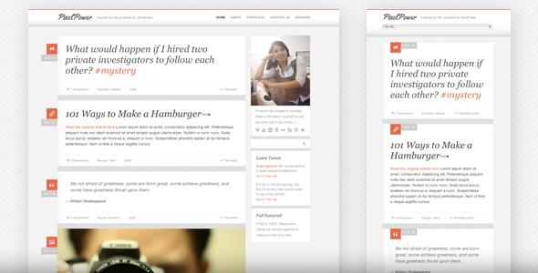 WordPress tumblog-style theme