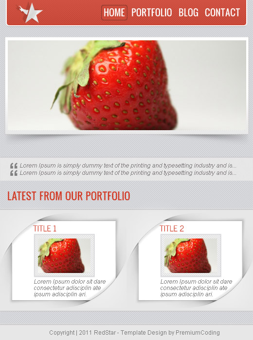 RedStar facebook page template