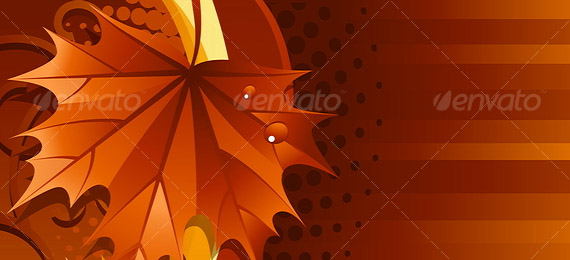 Vector illustration – autumn leaves background