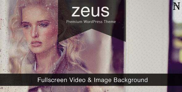 Zeus fullscreen video wordpress theme