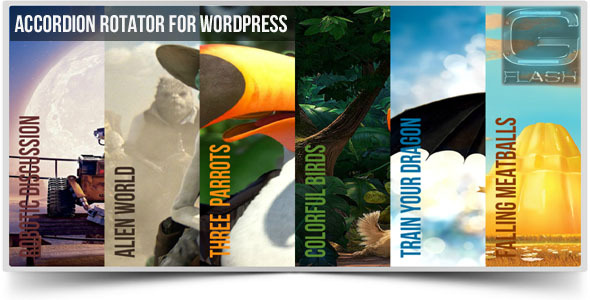 Accordion rotator wordpress slideshow