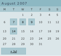 Ajax WordPress Calendar Plugin