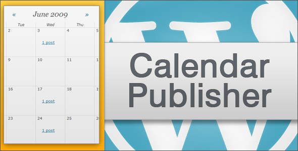 Calendar publisher for wordpress
