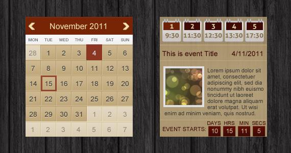 Grunge Event Calendar (PSD)