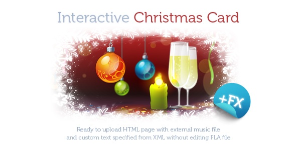 Interactive christmas card