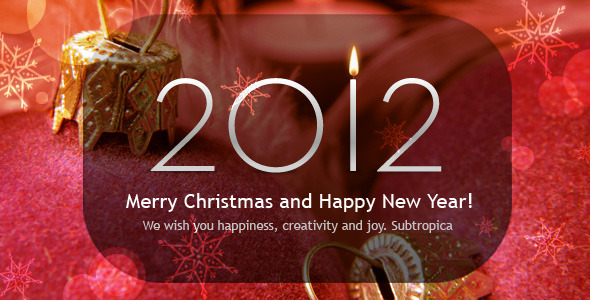 Newyear christmas greeting card
