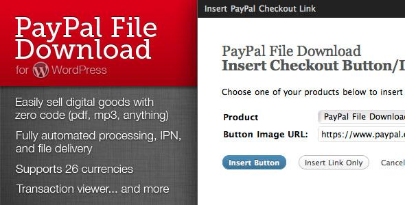 paypal file download wordpress plugin
