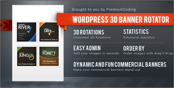 wordpress banner 3d rotator