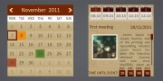 wordpress multi events calendar: grunge skin