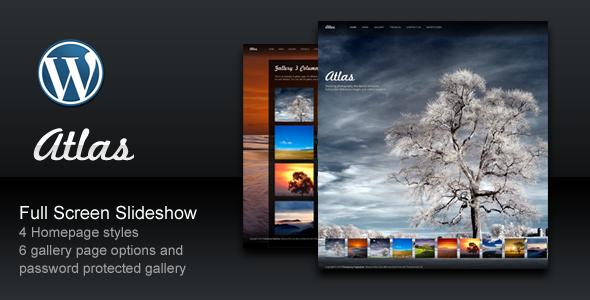 Atlas photography portfolio wordpress theme