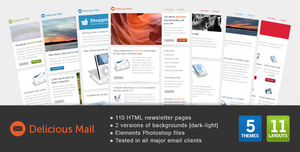Delicious mail template
