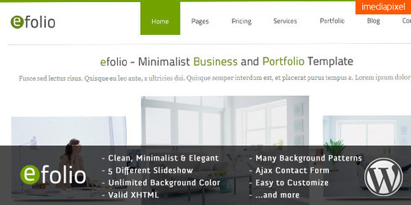 Efolio business wordpress theme