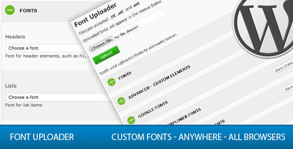 Font uploader for wordpress plugin