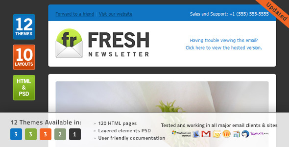 Fresh newsletter template